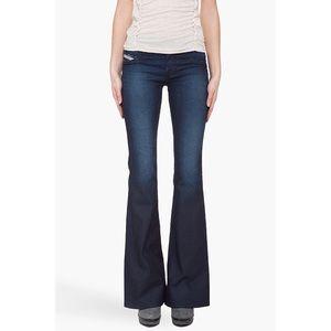 Diesel Livier Flare Dark Wash Super Slim Jeans